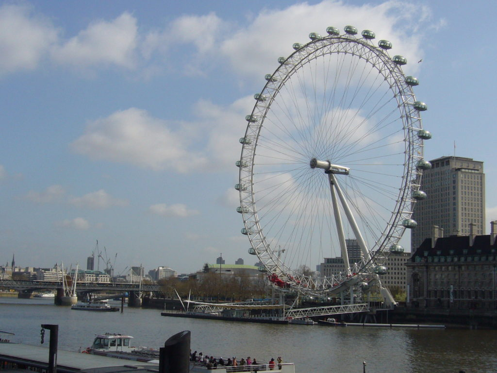 London Eye along Thames