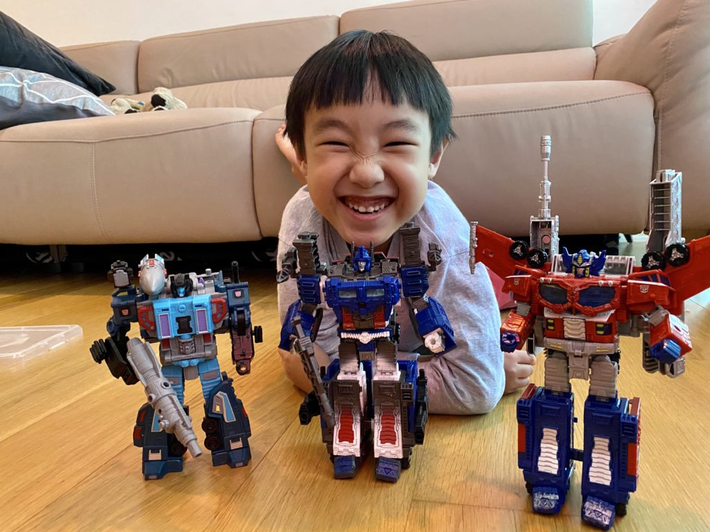Timothy and his Transformers